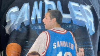 We Need An Explanation For This Adam Sandler Basketball Shirt That James Caan's Assistant Owns