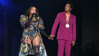 Beyonce And Jay-Z Display A Never-Before-Seen Basquiat Painting In Their New Tiffany & Co. Ad