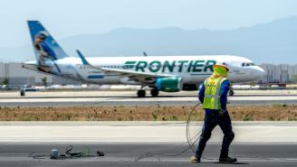 An Unruly Passenger On Frontier Airlines Was Taped To His Seat After Allegedly Groping Two Flight Attendants And Punching A Third