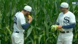 White Sox Outfielders Ate The Gross Corn At The 'Field Of Dreams' Game Against The Yankees