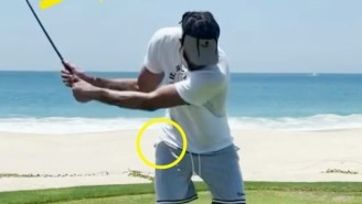 Breaking Down JaVale McGee's Golf Swing With The Konica Minolta Swing Vision Camera