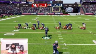 This 'Madden NFL 22' Glitch Gives Us The Greatest Moment In The History Of Run Blocking