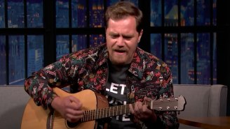 Michael Shannon Debuted A Song He Wrote When He Was 15 Years Old About Armadillos On 'Late Night'