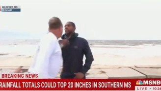 An MSNBC Reporter Was Bizarrely Confronted By A Man Apparently Mad About Hurricane Coverage