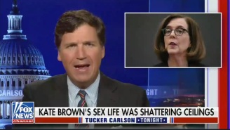 Tucker Carlson Finds It Very 'Confusing' That Oregon's Bisexual Governor Is A Woman Who Is Married To A Man