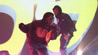 Meek Mill And Lil Uzi Vert Make For A Dynamic Duo Performing 'Blue Notes 2' On 'The Tonight Show'