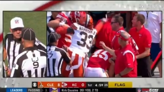 Browns Safety Ronnie Harrison Got Ejected In The First Quarter For Shoving A Chiefs Coach