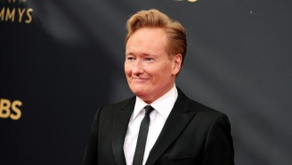 Conan O'Brien Appeared To Randomly Troll A Television Academy Exec Who Was Giving A Speech At The Emmys
