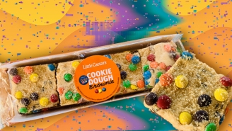 We Tried The Little Caesar's M&M's Minis Cookie Dough Brownie To See If Its Worth Adding To Your Next Order