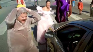 The James Corden 'Crosswalk' Clip That Launched A Thousand Jokes Is Here (Complete With Thrusting)