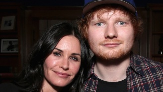 Ed Sheeran Is 'Pretty Sure' That Courteney Cox Sings On His New Album