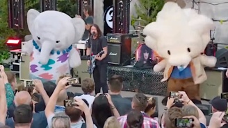 Foo Fighters Performed Alongside Giant Mascot Characters During A Private Corporate Concert