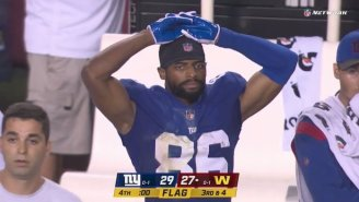 The Giants Lost After Jumping Offsides On Washington's Last Second Missed Field Goal To Give Them A Second Chance