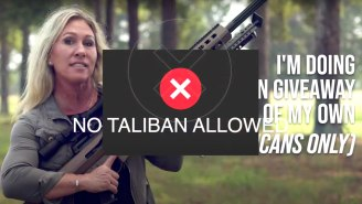 Marjorie Taylor Greene's Deranged Assault Weapon Giveaway Promo Video Feels Like An 'SNL' Parody, But Of Course It's Not