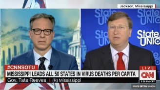 Jake Tapper Repeatedly Grilled A GOP Governor Over Sky High COVID Cases In His State: 'Your Way Is Failing'