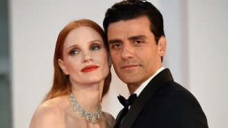 Jessica Chastain Had A Pretty Great Response To Her Viral Red Carpet Moment With Oscar Isaac