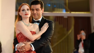 A Charged Moment Between Jessica Chastain And Oscar Isaac On The Red Carpet Almost Broke The Internet
