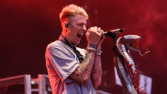 MGK Roasted Slipknot During His Riot Fest Set For Being '50 Years Old' And Still Wearing Their Masks
