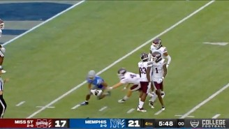 Memphis Got A 93-Yard Punt Return Touchdown Cause Mississippi State Left The Ball On The Ground (UPDATE)