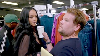 Rihanna Fires James Corden As Her Assistant On 'The Late Late Show'