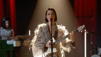 St. Vincent Is Joined By Doppelgangers For Her 'Kimmel' Performance Of 'The Nowhere Inn'