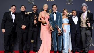 The 'Ted Lasso' Team Had A Wild Emmys Afterparty With Karaoke, Those Famous Biscuits, And Brendan Hunt Slipping Into His Coach Beard Attire