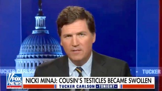 Tucker Carlson Is Suddenly Nicki Minaj's Biggest Fan After She Claimed Her Cousin's Friend's 'Testicles Became Swollen' After Being Vaccinated