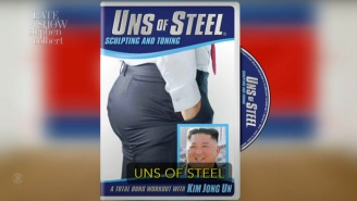Stephen Colbert Spoofs Kim Jong-Un's Recent Weight Loss With 'Uns Of Steel' Workout Video