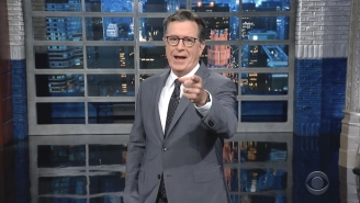 Stephen Colbert Is Tickled That Trump's Shady New Social Network Was Immediately Overrun By Trolls