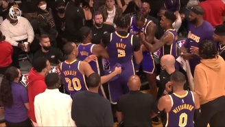 Anthony Davis And Dwight Howard Had To Be Separated After Getting Into It During A Timeout