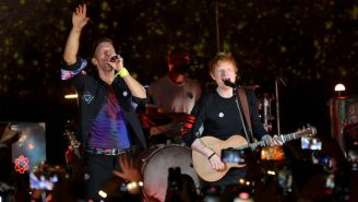 Ed Sheeran Surprised Fans On Stage At Coldplay's London Show To Perform 'Fix You'