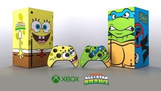 Xbox Created A Special Edition SpongeBob And Leonardo Series X For 'Nickelodeon All-Star Brawl'