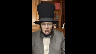 People Are Scratching Their Heads Over A Bizarre Rudy Giuliani Video Where He Attacks A Democratic Candidate While Using An Abraham Lincoln Filter