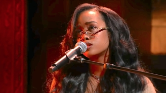 HER Brings Her Soaring Heartbreak Ballad 'For Anyone' To An Intimate Performance On 'Colbert'