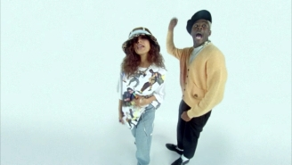 Snoh Aalegra And Tyler The Creator's 'Neon Peach' Video Has Fun With Its Fish-Eye Lens