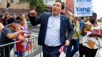 Andrew Yang Is Getting Taken To The Danger Zone Over His Political Party Logo That Looks Like Its Straight From The '80s