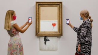 That Shredded Banksy Painting Sold For Far More Than It Cost Before It Was 'Destroyed'