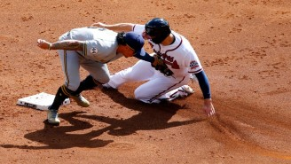 A Horrific Baserunning Error Cost The Braves An Early Run In Game 3 Against The Brewers