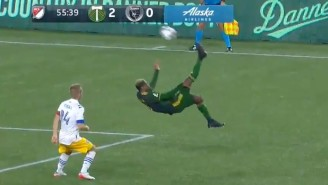 Dairon Asprilla Scored The Goal Of The Year With A Bicycle Kick From Outside The Box