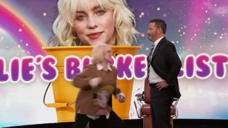 Billie Eilish Punches Jimmy Kimmel, Cuts A Stranger's Hair, And Crosses Off More Bucket List Items