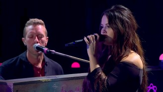 Coldplay And Selena Gomez Give Their Ballad 'Let Somebody Go' Its Television Debut On 'Corden'