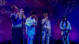 Coldplay, We Are King, And Jacob Collier Let Their Vocals Shine While Singing 'Human Heart' On 'Corden'