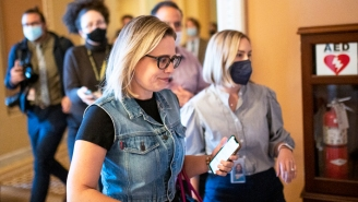 Kyrsten Sinema Wore A Denim Vest On The Senate Floor, And The Jokes Are Writing Themselves