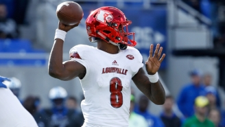 Louisville Surprised Lamar Jackson By Announcing They're Retiring His Number