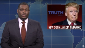 'SNL' Weekend Update Made An Especially Savage Joke About Trump's Forthcoming Social Media Service