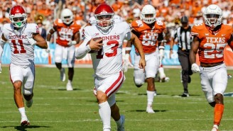 Oklahoma Stormed Back From 21 Points Down To Stun Texas On A Last-Second Touchdown