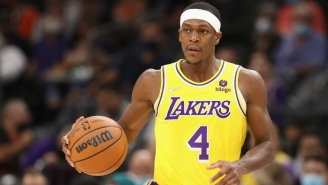 A Fan Was Ejected From Lakers-Suns For Slapping Away Rajon Rondo's Hand