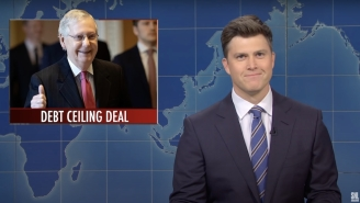 Colin Jost Had Some Harsh Words For Mitch McConnell On 'SNL' Weekend Update