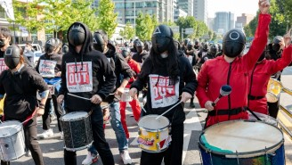 Thousands Of South Korean Union Members Donned 'Squid Game' Costumes To Protest Working Conditions