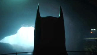 Michael Keaton's Batman Can Be Heard And Just Barely Seen In The First Look Teaser For 'The Flash'